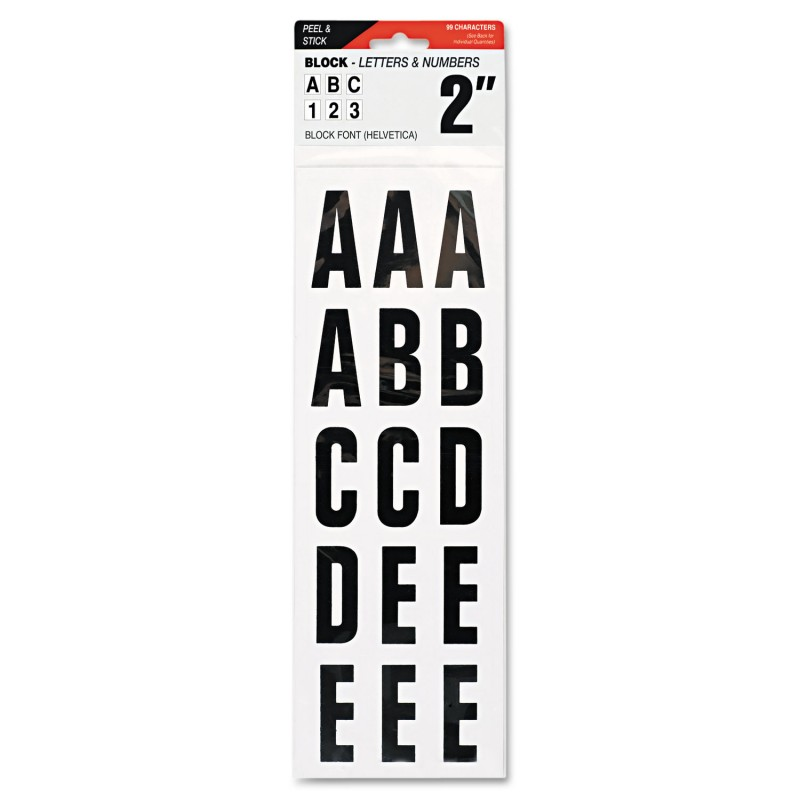 Letters numbers symbols adhesive black for Black adhesive letters